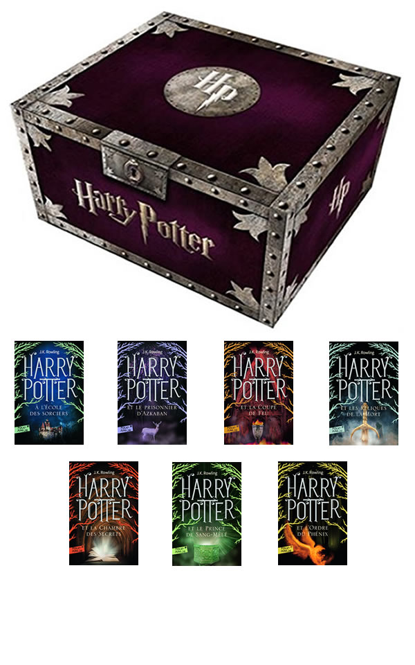coffret harry potter livres 1 7 en fran ais. Black Bedroom Furniture Sets. Home Design Ideas